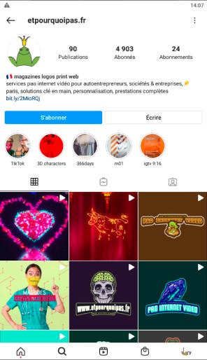 cc epp création gestion profils instagram réalisation magazines pao video web 3d illustration hébergement serveur FreelancesParis