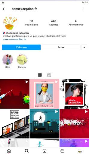 cc se création gestion profils instagram réalisation magazines pao video web 3d illustration hébergement serveur FreelancesParis