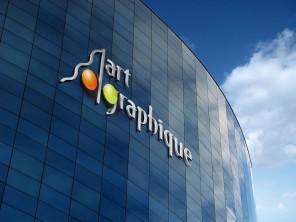valorisation sublimation logo 3D sur façade immeuble